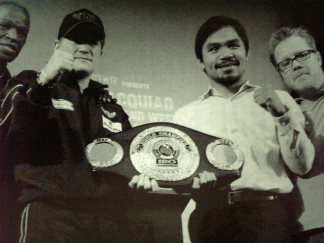 《☆ブルファイター同士激突!〈IBO世界S・ライト級タイトルマッチ12回戦〉(王者)リッキー・ハットン(英)VS(WBC世界ライト級王者)マニー・パッキャオ(比)》5月2日[試合会場]アメリカ・ネバダ州(ラスベガス)》