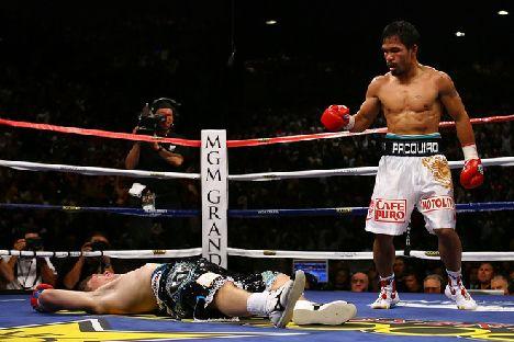 《IBO世界スーパー・ライト級タイトルマッチ!(前WBC世界ライト級王者)マニー・パッキャオ(比)対(IBO世界S・ライト級王者)リッキー・ハットン(英)》'09年5月2日試合会場[米国・ネバダ州ラスベガスMGMグランドガーデン]</a><img src=