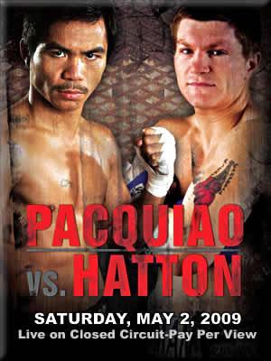 《IBO世界スーパー・ライト級タイトルマッチ!(前WBC世界ライト級王者)マニー・パッキャオ(比)対(IBO世界S・ライト級王者)リッキー・ハットン(英)》'09年5月2日試合会場[米国・ネバダ州ラスベガスMGMグランドガーデン]<br /> <img src=